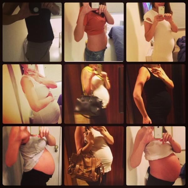 Ale fez questão de fotografar cada fase da gravidez Foto: Arquivo pessoal