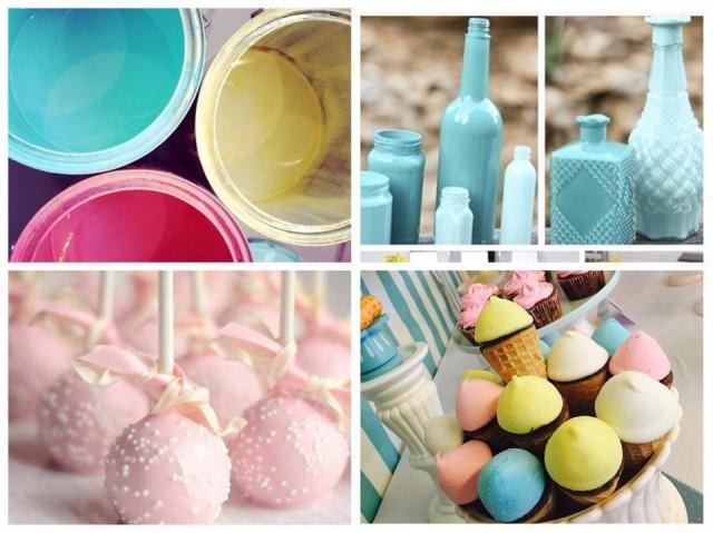 As cores candy foram a inspiração para todo o chá de fraldas