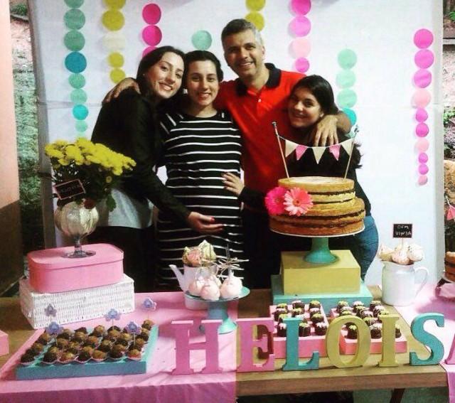Minha irmã, eu, meu marido e sua filha