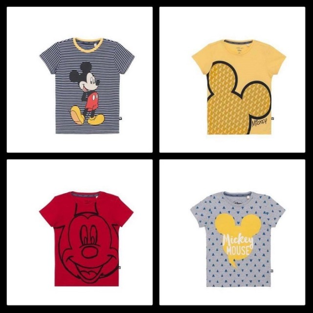 As camisetas do Mickey para meninos custam R$ 29.99