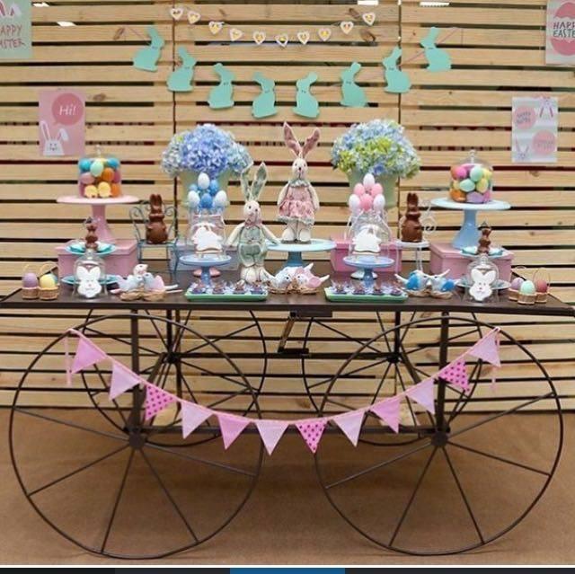 Opção um pouco mais elaborada, com toda a mesa decorada. Foto: Kikids Party