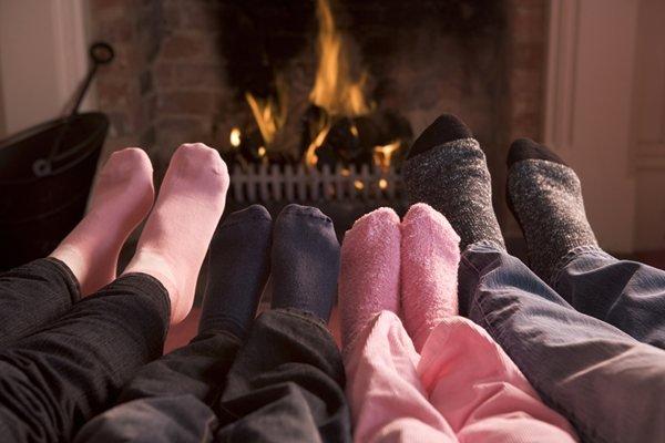 casa quente no inverno