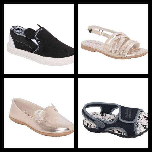 Os calçados, tanto para menina quanto para menino, custam R$ 49,99